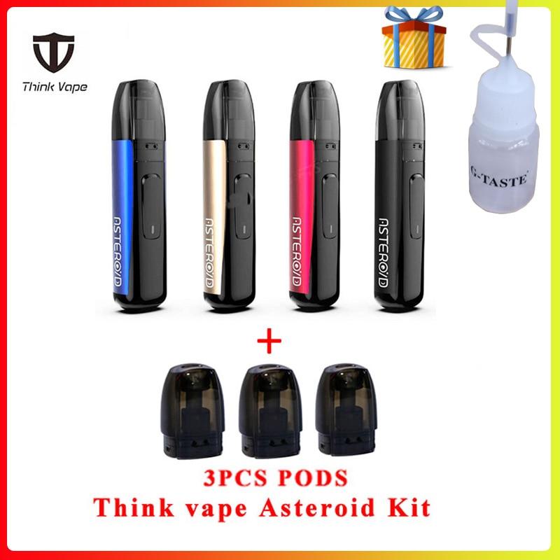 E Cigarette Think Vape Asteroid Kit Built-in 420mah Battery Pod System Vape Kit With 3pcs 1.5ml Cartridges Vs Justfog Minifit