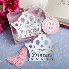 1000pcslot crown themed princess bookmark wedding gift baby shower favors party souvenir for guest