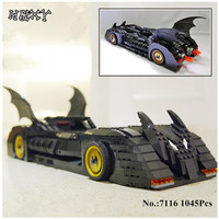 DHL IN STOCK DECOOL 7116 1045Pcs Super Hero Batman The Ultimate Batmobile Model Building Kits Blocks Bricks Compatible Gift 7784