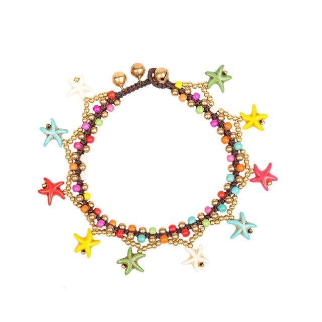Amourjoux богемные ручной работы Красочные Морская звезда подвески