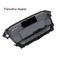 For Audi A4 S4 RS4 2012 2016 New ABS Black Painted Front Honey Mesh Grille Sedan
