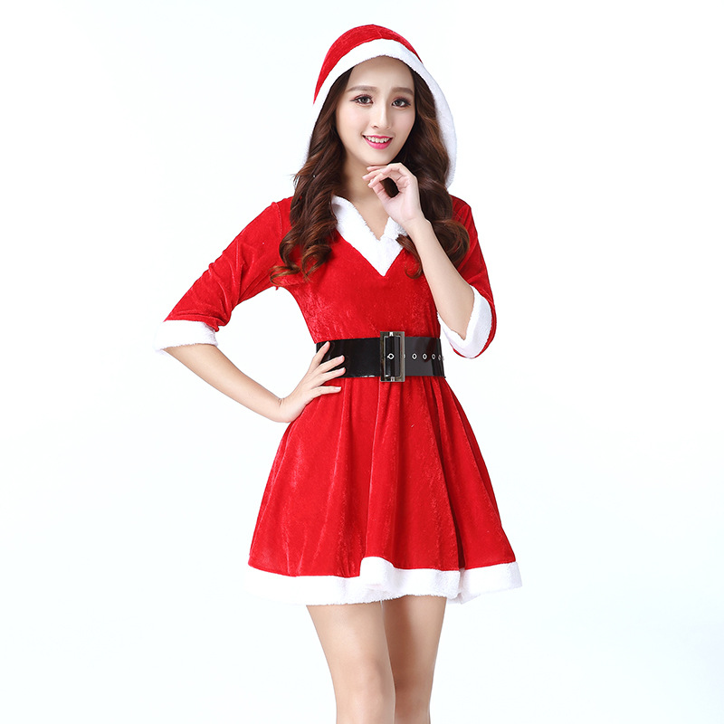 Temptation uniforms Christmas Costume  Lovely Princess Acting Dress Women Costume Cosplay for Party Clothes Sexy Charming Girls
