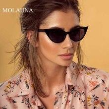 MOLAUNA Small Cat Eye Sunglasses Women Brand Designer Fashion Sun Glasses Black Flat Top Female Glasses Oculos De Sol Eyewear