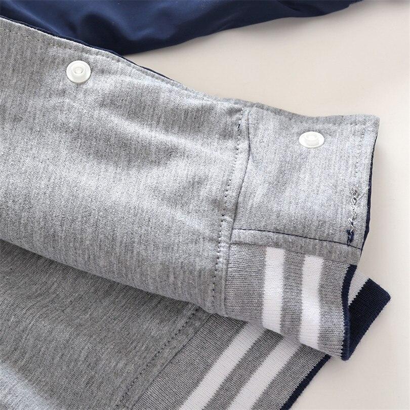 С принтом букв пальто для маленьких мальчиков хорошее Качественный хлопок подкладка осень Куртка для маленьких мальчиков очень классные к...