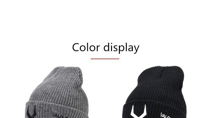 2018 Antlers Embroidery Knit Beanies Hat Antler Pattern Winter Hats Man Woman Warm Thicken Hedging Cap Ski Skullies Men's Skullies & Beanies