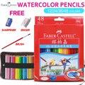Faber castell 12/24/36/48 цветов акварельные карандаши для рисования акварельные ручки принадлежности для студентов карандаши для рисования эскиз