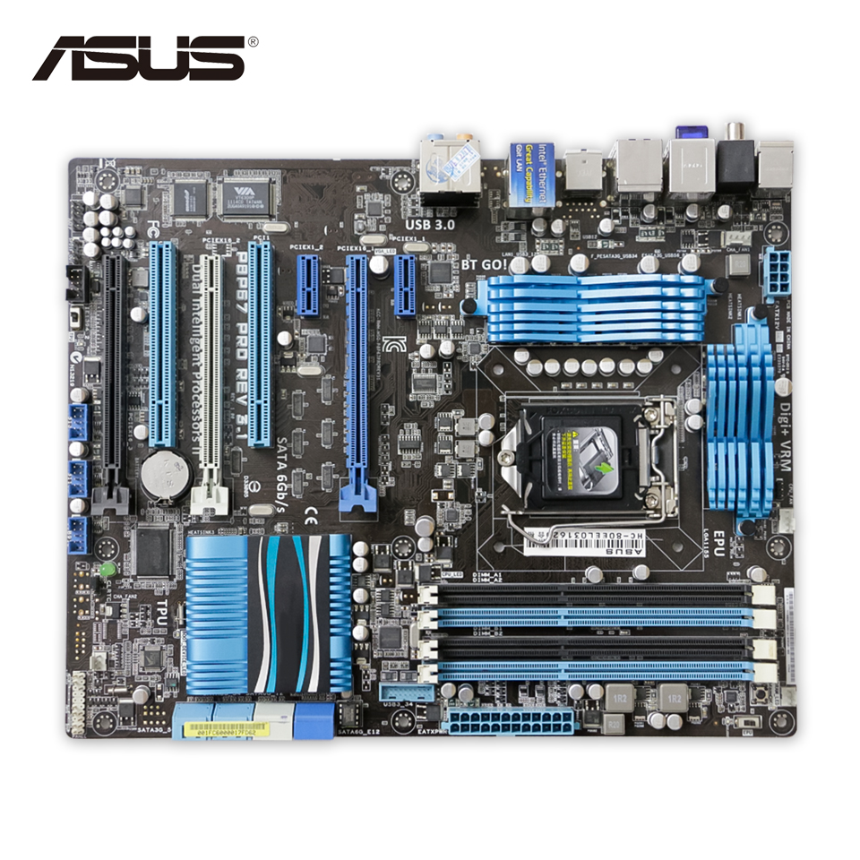 Asus P8P67 PRO REV 3.1 Original Used Desktop Motherboard P67 Socket LGA 1155 i3 i5 i7 DDR3 32G SATA3 USB3.0 ATX original motherboard p8p67 rev 3 1 lga 1155 ddr3 usb2 0 usb3 0 sata iii 32gb boards p67 desktop free shipping