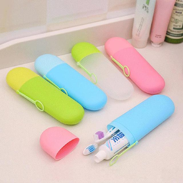 Portable Travel Toothpaste Toothbrush Holder Cap Case Household Storage Cup Outdoor Holder Bathroom Accessories
