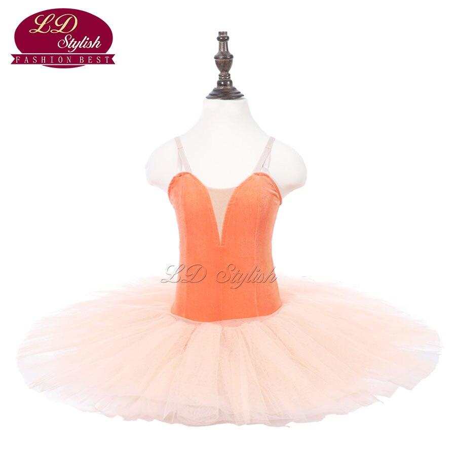 Enfants Orange Ballet Tutu bleu scène Performance Costumes enfants Ballet danse compétition Apperal adulte rose Ballet jupe