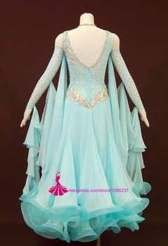 標準社交女性の高品質フラメンコワルツ競争ダンススカートスパンデックスライクラ社交ダンスドレス