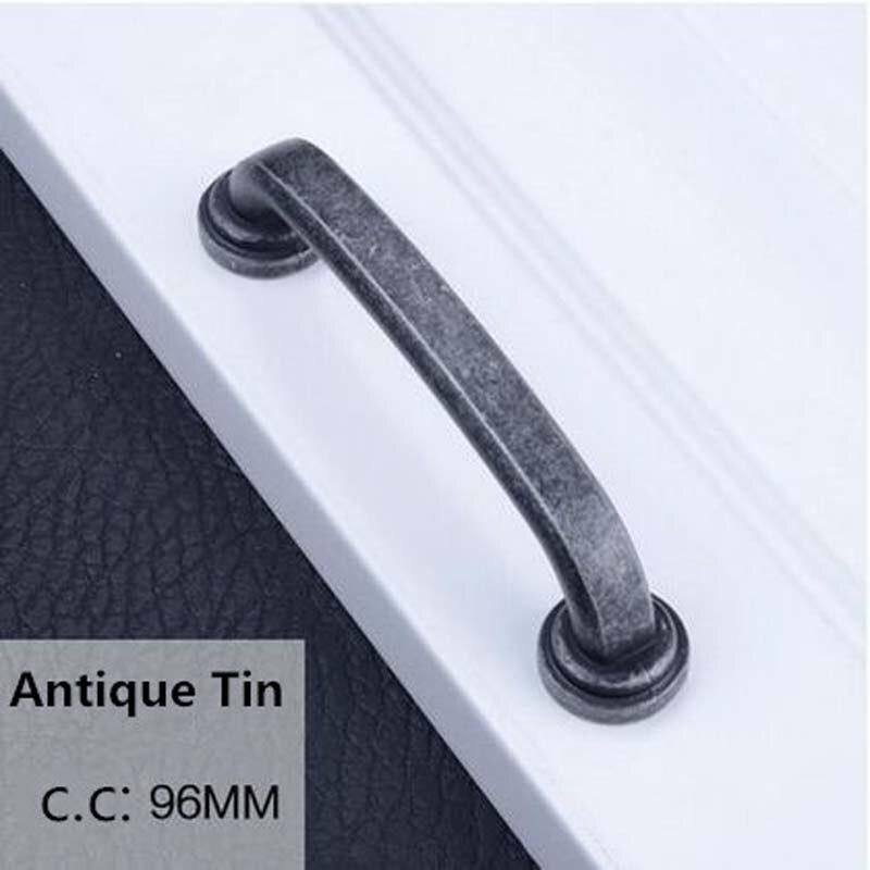 96mm vintage distress furniture handles antique tin kitchen cabinet wardrobe door handle pull 3 8 dresser