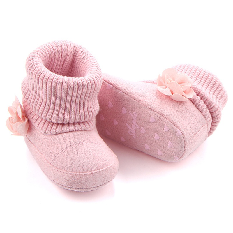Baby Boots 2018 Winter Baby Girl Boots Warm Soft Flowers Newborn Snow Boots Fashion Children's Shoes