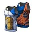2016 Ball Z Vegeta Dragon Ball Z Dos Homens 3D T Camisa Goku Estilo Verão Camisa 3D Tops Moda Roupas Tees Plus Size S-4XL