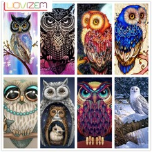 Diamond Painting Owl Embroidery Full Square 5d diy  Christmas Decorations Home LUOVIZEM L798