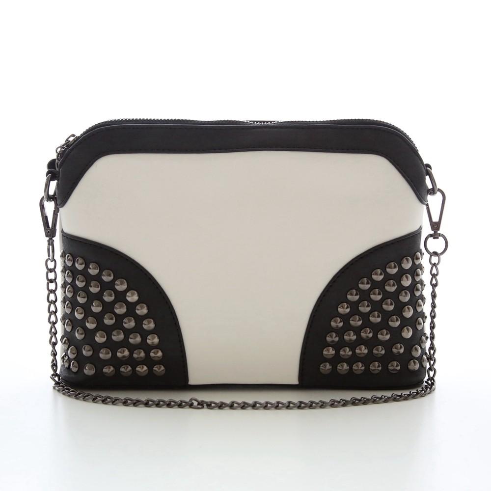 Rivet Shoulder Women Bag Vintage Scrub Shell Messenger Bags Chain Strap Crossbody Bag Clutch Bolsa Feminina Herald Fashion Brand (11)