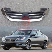 1Pcs Chrome Upper Grille Front Bumper Grill For Honda Accord 2013 2015