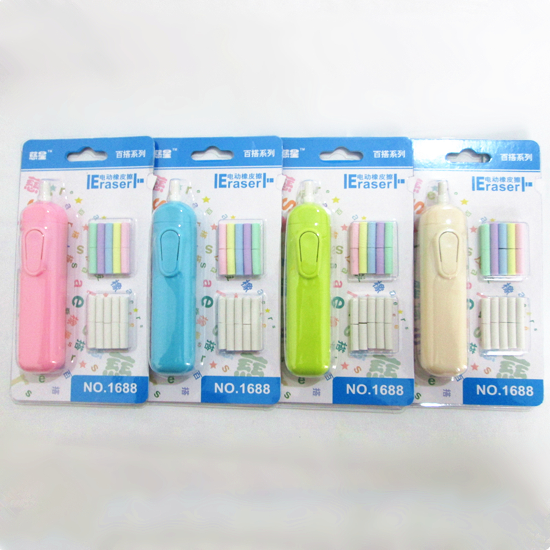 1pc New Electric Erasers Automatic Battery Operated Eraser School Office Supplies Art Artist Painting Sketch Stationery 4 Colors