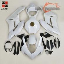 цена на ZXMT Unpainted White Fairing Kit Fit for Honda CBR1000RR 2004 2005 ABS Plastic Injection Bodywork Tank Cover