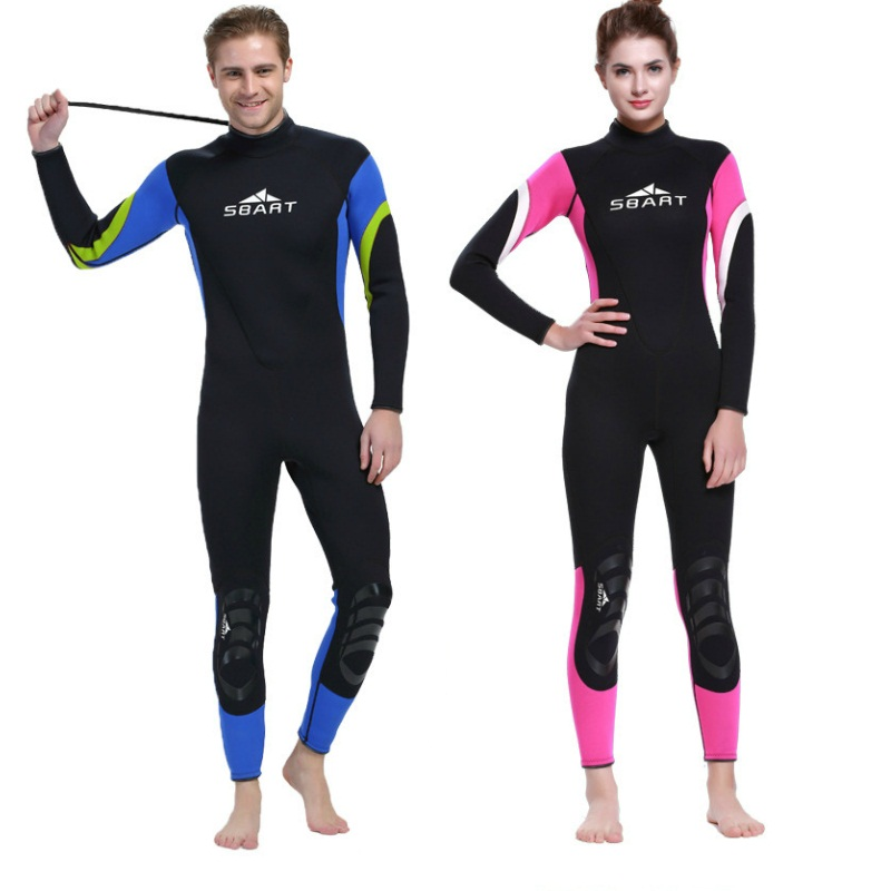 SBART Spearfishing 3mm Neoprene Wetsuit Men Women For Swimming Scuba Dving One-Piece Wet Suit Snorkeling Jumpsuit Fishing Suit I spearfishing wetsuit 3mm neoprene scuba diving suit snorkeling suit triathlon waterproof keep warm anti uv fishing surf wetsuits