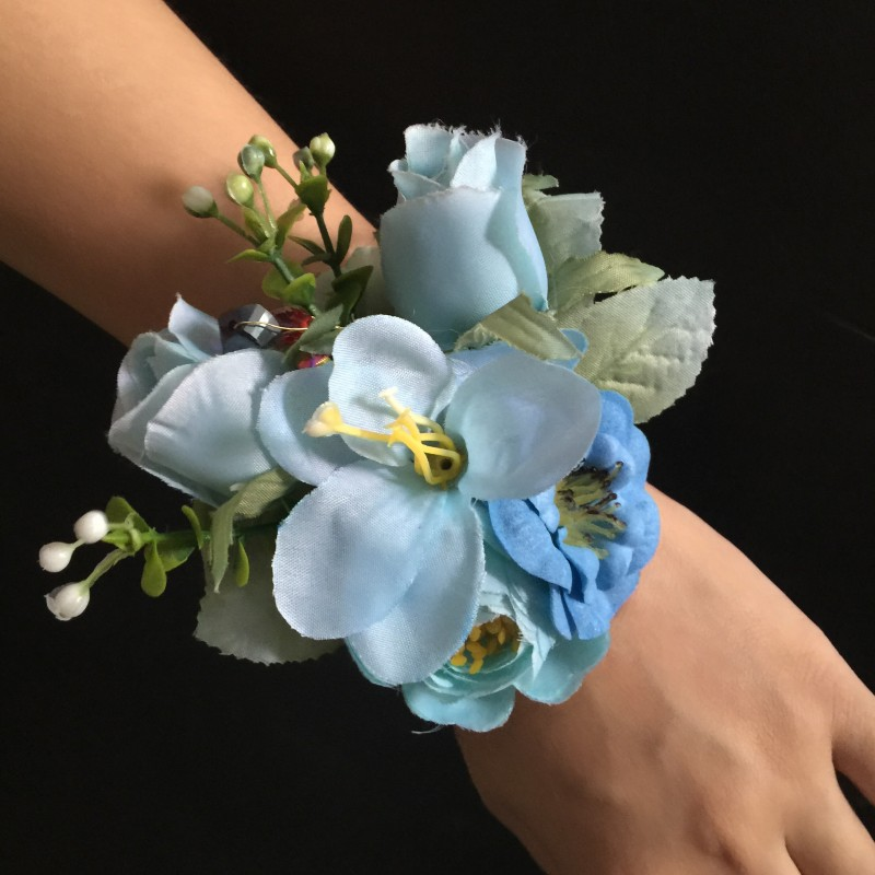 Wedding Bridal Girl Hand Flowers Bride Wrist Corsages