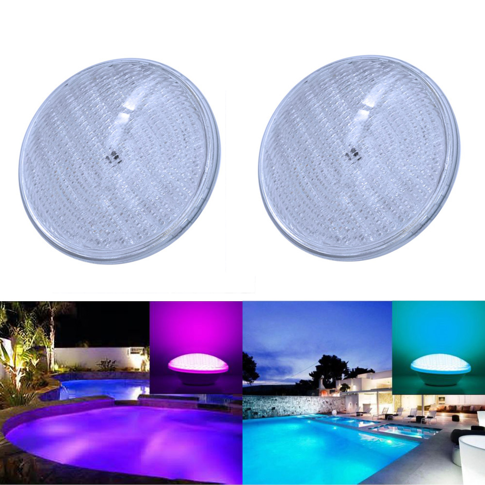 2pcs/lot Led pond lights underwater 40W RGB PAR56 12V Swimming Pool Light led pool lights Underwater lights jiawen 9w 12w rgb swimming led pool lights underwater lamp outdoor lighting pond lights led piscina lamp dc 12 24v