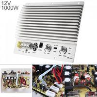 1000W Class AB Digital 2 Channel Silver Aluminum Alloy Car Audio AMP Subwoofer Amplifier Universal Auto Audio Power Amplifier