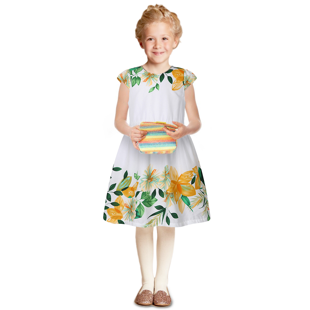 Подробнее о Girls Dresses for Party and Wedding Robe Enfant 2017 Brand Baby Girls Summer Clothes Flower Print Kids Dress Princess Costume clothes kid summer baby girl dress clothes girls costume for kids cute flower girls dresses for party and wedding 70c1116