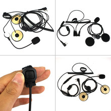 Earpiece Helmet Headset For BAOFENG UV5 BF-480 490 Dual speakers Nylon buckle tape For communication(China)