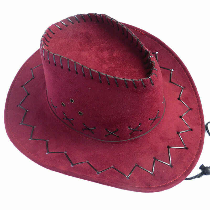 新スタイル女性男性カウボーイ帽子レトロ西洋カウガールカウボーイキャップヘッド磨耗野生西帽子固体純粋な色のファッションホット 2019