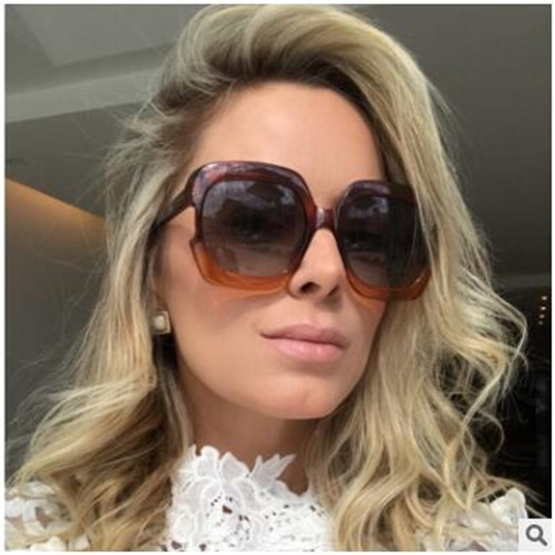 2018 Hot Sale Fashion big frame square street shot retro Men women uv400 Sunglasses Vintage Brand star Designer PC-171