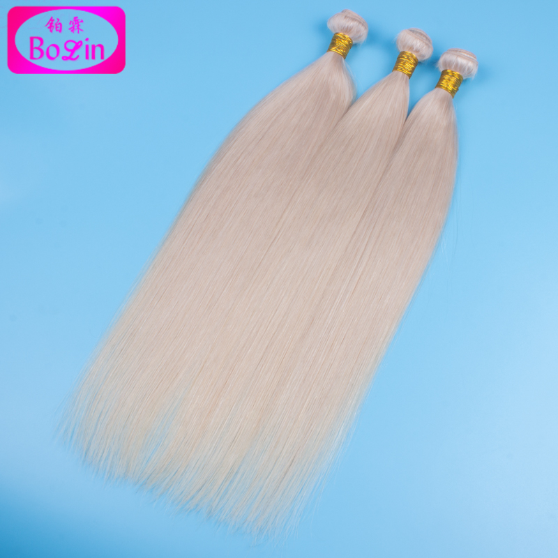 #60 Platinum Blonde Malaysian Human Virgin Straight Hair 8a Grade Malaysian Virgin White Blonde Malaysian Virgin Hair Bundles