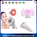 RF Cavitation Ultrasonic LED Body Slimming Massager Fat Burner  Massage Beauty Device+1pc ice roller +1pcSilicone wash brush