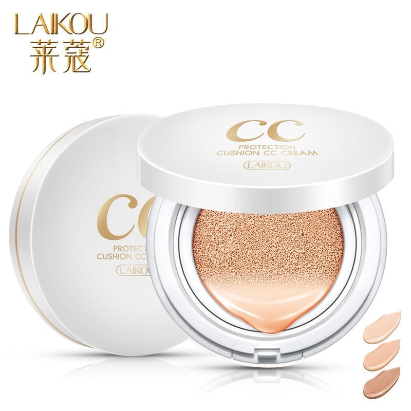 LAIKOU Air Cushion Isolation CC Cream Korean Cosmetic Moisturizer Make Up Oil Control Hyaluronic Acid Whitening BB Makeup