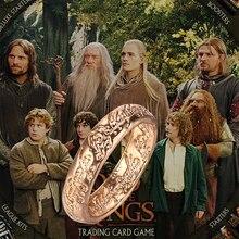 Кольцо The One Sauron Elves Frodo Baggins Gollum Tolkien с буквами золотого и серебряного цвета, модные ювелирные изделия из фильма для мужчин и женщин