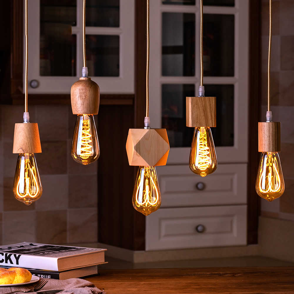 E27 retro Lamp Base Pendant light Bulb base Light Socket Industrial Fittings lamp holder Fixture for literature and art decora