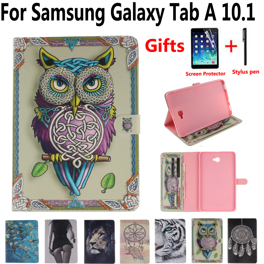owl tiger cover case for samsung galaxy tab a6 a 10 1 2016. Black Bedroom Furniture Sets. Home Design Ideas
