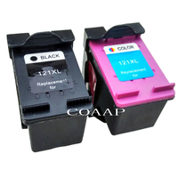 2 Compatible HP 121 121XL Refillable Ink Cartridge CC641HE CC644HE For HP Deskjet D2563 F4283 F2423