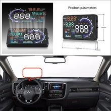 Car HUD Head Up Display For Mitsubishi Outlander / Montero / Lancer - Saft Driving Screen Projector Refkecting Windshield car hud head up display for bmw 7 e65 e66 e67 e68 f01 f02 refkecting windshield screen saft driving screen projector