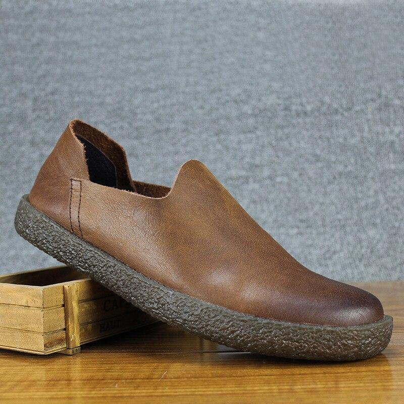 Respirável preto Couro De Todos Loafer Botas Casuais Os Do Dos Novos Sapatos Primavera Sapatilha Moda Lazer Jogo 2018 Homens Condução Brown WqpOw4RA