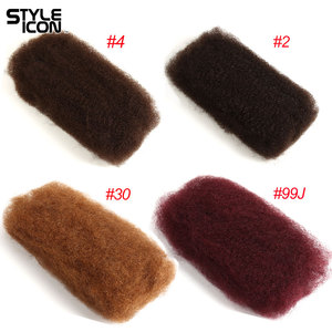 Image 3 - Afro Kinky Bulk Human Hair 3 4 Bundles Remy Mongolian Afro Kinky Bulk 50 Gram/Pc Kinky Curly Hair Crochet For Braiding Styleicon