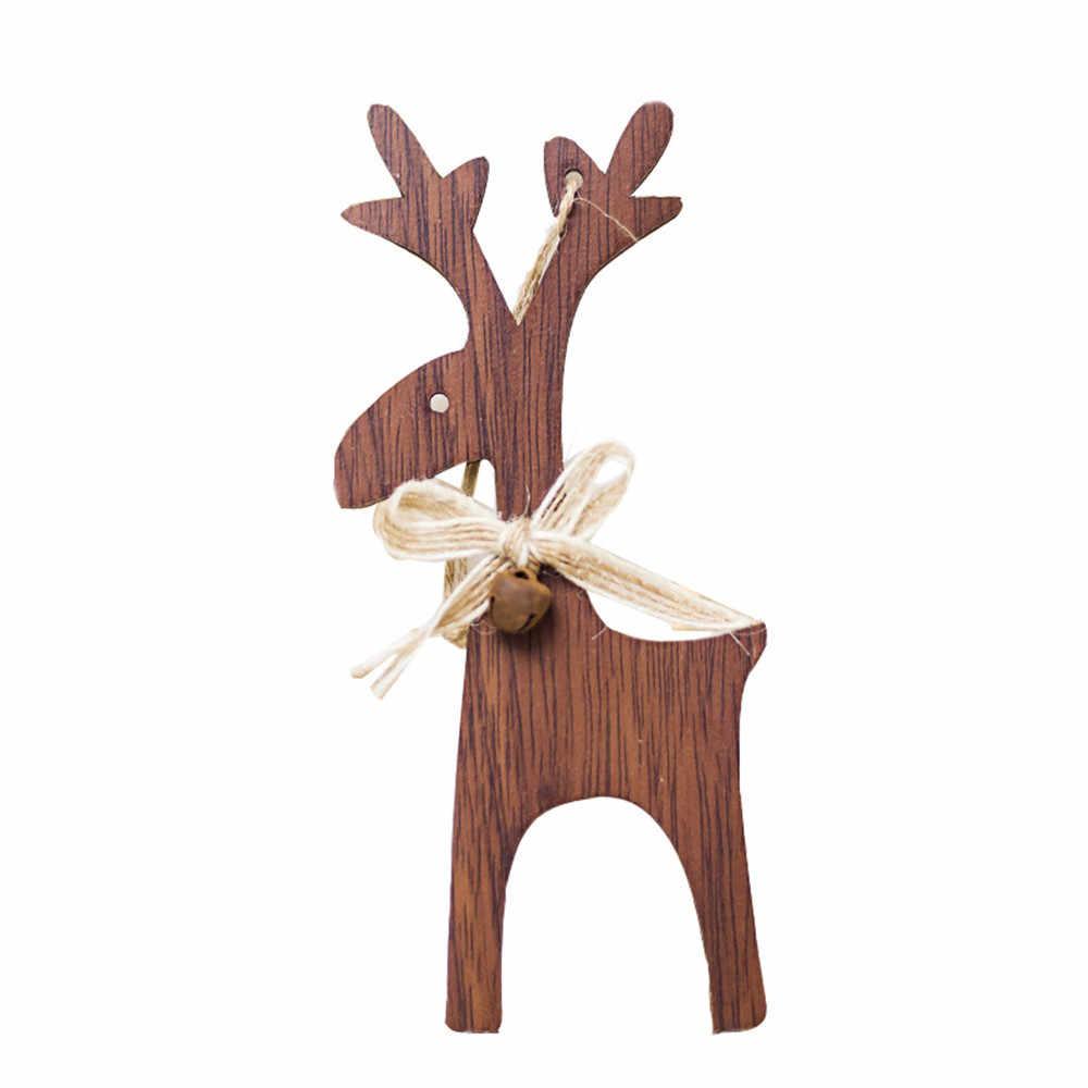 1 шт. Рождественский олень Деревянная Рождественская елка Подвески ручная работа украшения для рождественской вечеринки