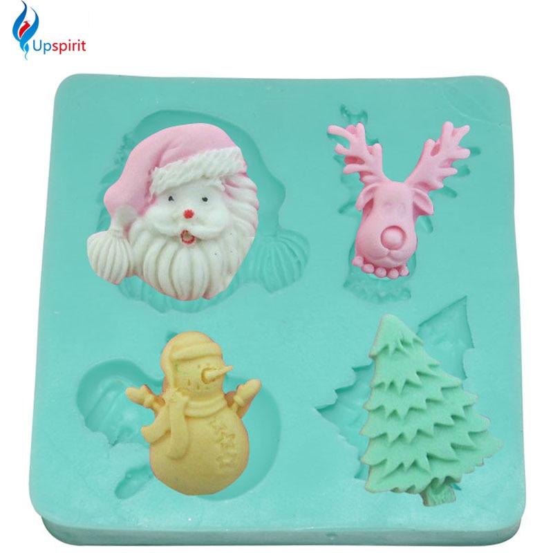 ∞El nuevo venir Navidad silicona Esterillas 3D fondant molde pastel ...