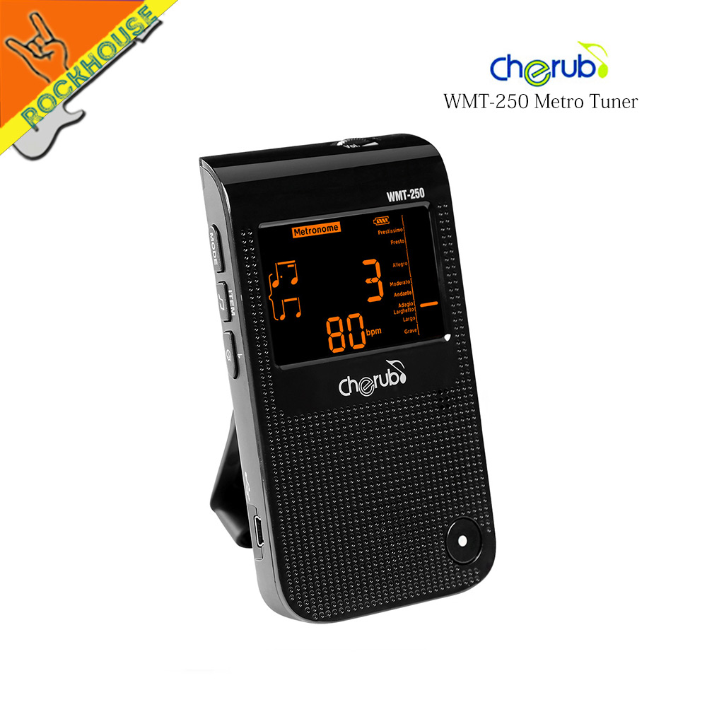 Cherub Digital Metronome Tuner with Recorder 13 hours Looping time Built-in Lithium battery Hand Power Generation Free shipping best battery brand mp3 mp4 free shipping 3 7v lithium battery 061530 601533 250mah mp4 mp5 voice recorder small toys gps 37v