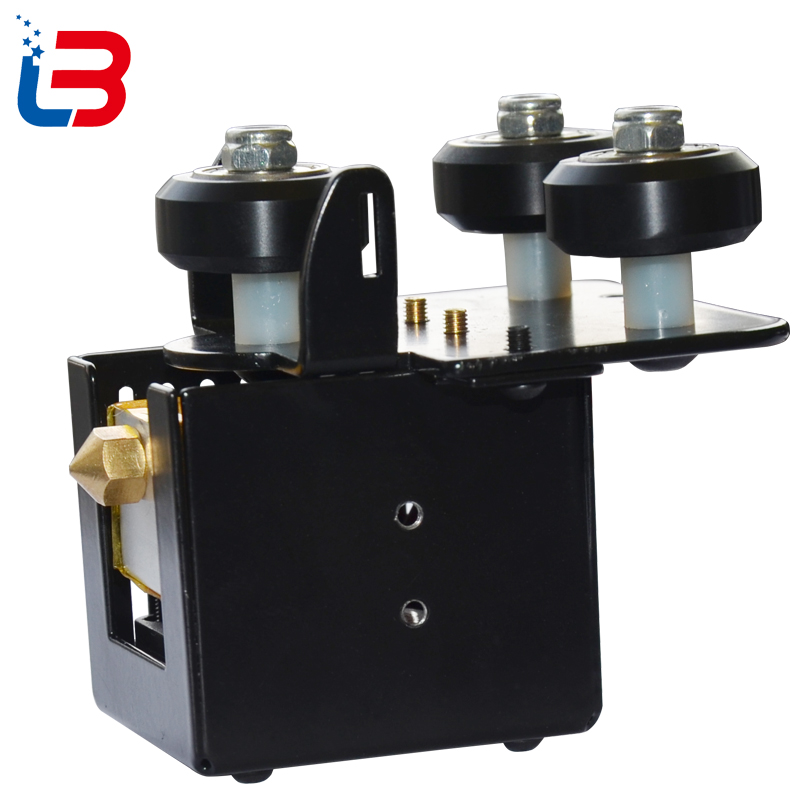 Free shipping Tronxy X3 3D printer machine complete Bowden Extruder with tube thermistor cooling fan heating
