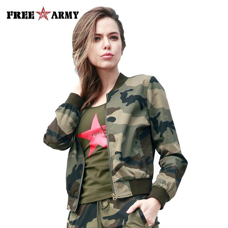 Nouveau Militaire Blouson de Mode Femmes Printemps Casual Manteaux V-cou Col Vestes Zipper Slim Manteaux Femme Vêtements