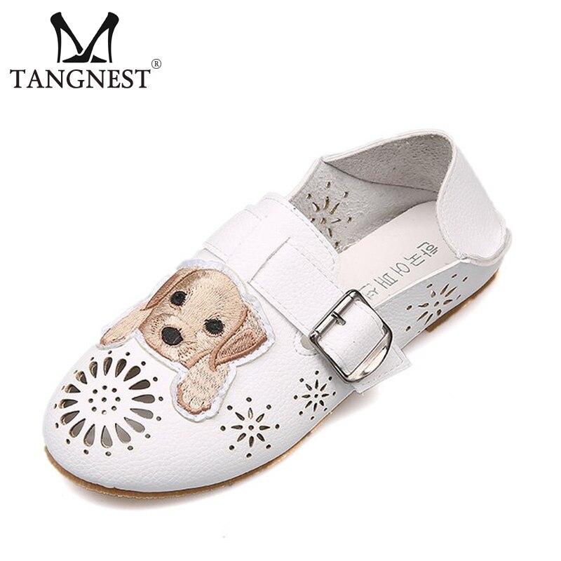Tangnest Women Summer Sandals 2018 New Fashion Design Cute Dog Pattern Hollow-out Flats Outdoor Women Causal Shoes XWT1244