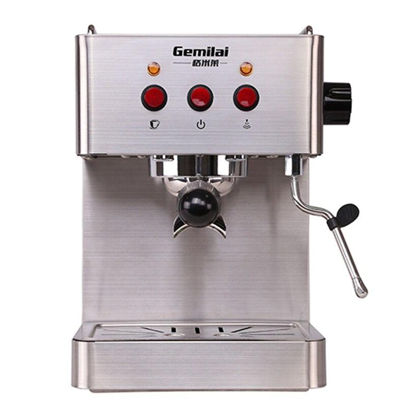 1450 Вт насос Давление Кофе чайник коммерческих Нержавеющаясталь эспрессо Кофе машины