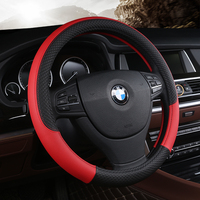 PU Leather Universal Car Steering Wheel Cover 38CM Car Styling Sport Auto Steering Wheel Covers Anti