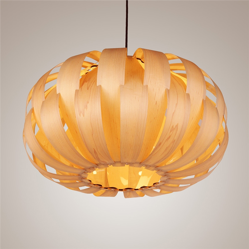 Novelty Indoor Wood Hand-weaving pendant lights dining room kitchen Crown Shape light lamp e27 110v/ 220v for decor