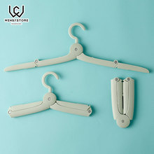 Multi-Functional Dual Hanger Folding Clothes Clothing Drying Rack Traveling Clothespin Travel Portable X50